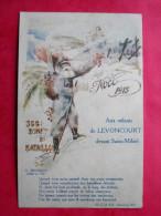 Cpa 55 LEVONCOURT 5e Bataillon Du 366e D Infanterie Illustrateur  Noel 1915 - Regiments