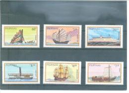 FILIPINAS-BARCOS 1406/1411 (6V) 1984 YVERT - Filipinas