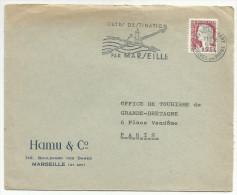 OBLITERATION MECANIQUE SUR LETTRE A EN TETE MARSEILLE DU 6/4/1964 - Marcophilie (Lettres)