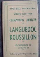 Carte Football Saison Championnat Amateur Saison 1962-1963 Languedoc Rousillon - Football