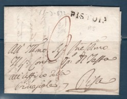 1822 -- PREFILATELICA DA PISTOIA PER PISA--