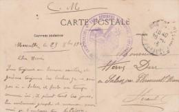 Cachet Militaire 145 è Régiment Territorial Infanterie Marseille 1916 Sur Carte Postale Caserne Menpenti - Marcophilie (Lettres)