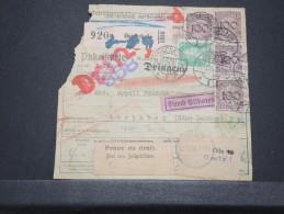 ALLEMAGNE - Bulletin D'expédition D'un Paquet Pour Londres - Dec 1928 - Intéressant -  P16805 - Deutschland