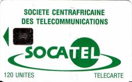 REPUBLIQUE CENTREAFRIQUAINE TELECARTE SOCATEL 120 UNITES SOCIETE CENTRAFRICAINE DES TELECOMMUNICATIONS PUCE SC5 - Centraal-Afrikaanse Republiek