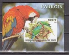 Congo 2005.1V In Block,IMP,parrot,papegaai,birds,vogels,vögel,oiseaux,pajaros,aves,MNH/Postfris(L2187) - Non Classés