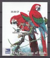 Congo 2003.1V In Block,IMP,parrot,papegaai,birds,vogels,vögel,oiseaux,pajaros,aves,MNH/Postfris(L2189) - Vogels