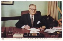 Seattle Washington Mayor Allan Pomeroy, Politician, C1950s Vintage Postcard - People