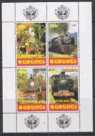 Burundi 1999 Locomotives M/s ** Mnh (27442A) - Burundi