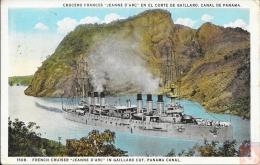USA - Carte Postale CROISEUR CUIRASSE - JEANNE D'ARC - Posted At Sea 1925 - Cristobal - Canal De Panama - Paquebots