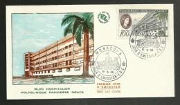 MONACO Enveloppe 1er Jour FDC - HOPITAL PRINCESSE GRACE / Poste Aérienne 100F /  1959 - Santé