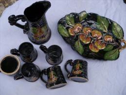 Ancien Service A Thé Ou Café En Céramique - Céramiques