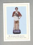 S.CONCORDIO MARTIRE..S.GREGORIO MAGNO..SALERNO..SANTINO....HOLY CARD..SANTINI - Religion & Esotericism