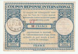 Coupon France 15 Francs Corrigé 25 à La Main - Lyon Saint-Jean 1948 - Modèle LO 14 - IRC CRI IAS - Entiers Postaux