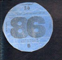 Timbre Fiscal - Vignette Automobile - B  - 1986 Manche 50 - Fiscaux