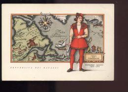 B1175 REPUBBLICA DEI RAGAZZI: I NAVIGATORI, SERIE SECONDA - GIOVANNI CABOTO - Illustratori & Fotografie