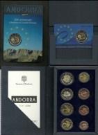 EUROPA  ANDORRA TODAS LAS  MONEDAS DE EUROS EMITEIDADAS EN ANDORRA HASTA EL MOMENTO. - Andorra