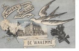 """Waremme - Un Amical Bonjour De Waremme - """"La Poste"""" - Ed: Jeanne/Waremme - Circulé: 1923 - Waremme"""