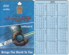 SUDAN - Calendar 2002, Sudatel Telecard 300 Units, Chip Siemens 35, Sample(no CN) - Soedan