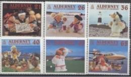 Alderney Aurigny Yvertn° 152-57 *** MNH Cote 11,50 Euro - Alderney