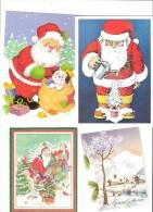 Lot De Cartes Mais Pas Postales Sur Noel    Et Bonne Annèe                  Pere Noel     Chalet - Weihnachtsmänner