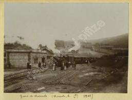 Train En Gare De Monsols (Rhône). 1901. - Orte