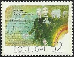 "Portugal 1990 Cent The Nat Anthem  Datas Da História 1º Cent ""A Portuguesa"" Scott 1804 Afinsa 1930 MNH - Other"