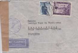 Austria; Censored Cover To Argentina 1949 - 1918-1945 1ra República