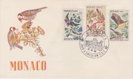 Monaco; FDC 1962 - BIRDS - FDC