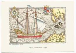 O1964 Nave Francese 1583 - Navi 3 Serie - Illustration Illustrazione Di Nicouline Lavarello - Altre Illustrazioni