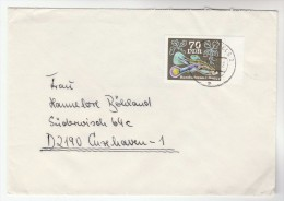EAST GERMANY  COVER Stamps 70pf FISH Ddr - Fishes