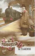 "Tamines - Tendresse De Tamines ""train"" - Ed: Gloria 1294 - Circulé. - Sambreville"