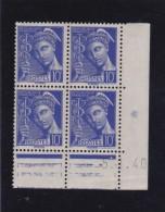 FRANCE COIN DATE  NEUF XX   N°407 -   5/11/1940  - REF STEM - Ecken (Datum)