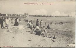 CP - 44 - Le Pouliguen La Plage Et Les Baigneurs. - Le Pouliguen