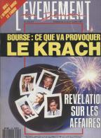 L'evenement Du Jeudi   N°155   22 Au 28 Octobre 1987 : Ce Que Va Provoquer Le Krach - Informations Générales