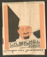 ZURICH RESTAURANT ZIMMERLEUTEN LASTAR - GENEVE ALLUMETTES RECLAME ADVERT - Boites D'allumettes