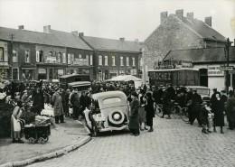 Belgium Erquelinnes Marché Frontiere Franco-Belge Ancienne Photo 1937 - Non Classés