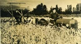 France Pyrenees Agriculture La Moisson Du Ble Tracteur Ancienne Photo 1948 - Professions