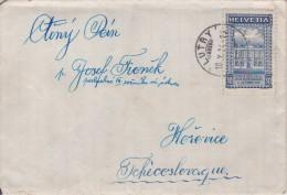 Switzerland; Cover To Czechoslovakia 1924 - Suiza