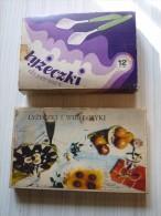 VINTAGE ANNEES 70 - ORIGINE POLOGNE - 1 Set 6 Cuillères Et 6 Fourchettes + 1 Set 12 Cuillères  - Couverts à Dessert - - Spoons
