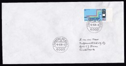 Germany: Cover To Netherlands, 1988, 1 Stamp, Special Date Curiosity: 8-8-88, Numbers (traces Of Use) - Brieven En Documenten