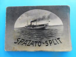 SPALATO - SPLIT .. Old Complette Set Of 12. Photos * Croatia * Old Steamboat On Cover Ship Schiff Nave Piroscafo Dampfer - Croatia