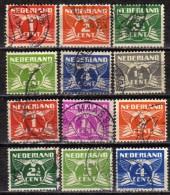 NIEDERLANDE 1924 - 1926 MiNr: 146-150+171-177 Komplett  Used - Usados