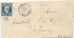 Basses Pyrénées - Garlon Pour Jurançon. PC + CàD Type 15. Indice 8 - 1849-1876: Classic Period