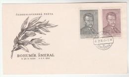 1951 CZECHOSLOVAKIA FDC Stamps Bohumír SMERAL  Cover - FDC