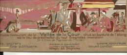 Carte Pub Art Nouveau Restaurant Vallée De La Cour à Côté De Bagnoles De L´orne Près Alençon 23cm Par 8,7 - Vecchi Documenti