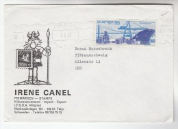 1973 SWEDEN Illus ADVERT VIKINGS Pic COVER To Germany Cargo Ship Stamps Vikings - Sweden