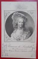 """CPA PORTRAIT FEMME HISTORIQUE CELEBRE 1901 """"PRINCESSE DE LAMBALLE"""" Par RIOULT Pinx - Personnages Historiques"""