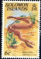 Snake, Pacific Boa, Solomon Islands Stamp SC#400 Used - Salomon (Iles 1978-...)