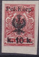 POLAND 1918 I POL CORPS Fi 12A Mint Hinged (not Signed) - Unused Stamps