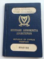 CYPRUS Passport Passeport Reisepass - Historische Documenten